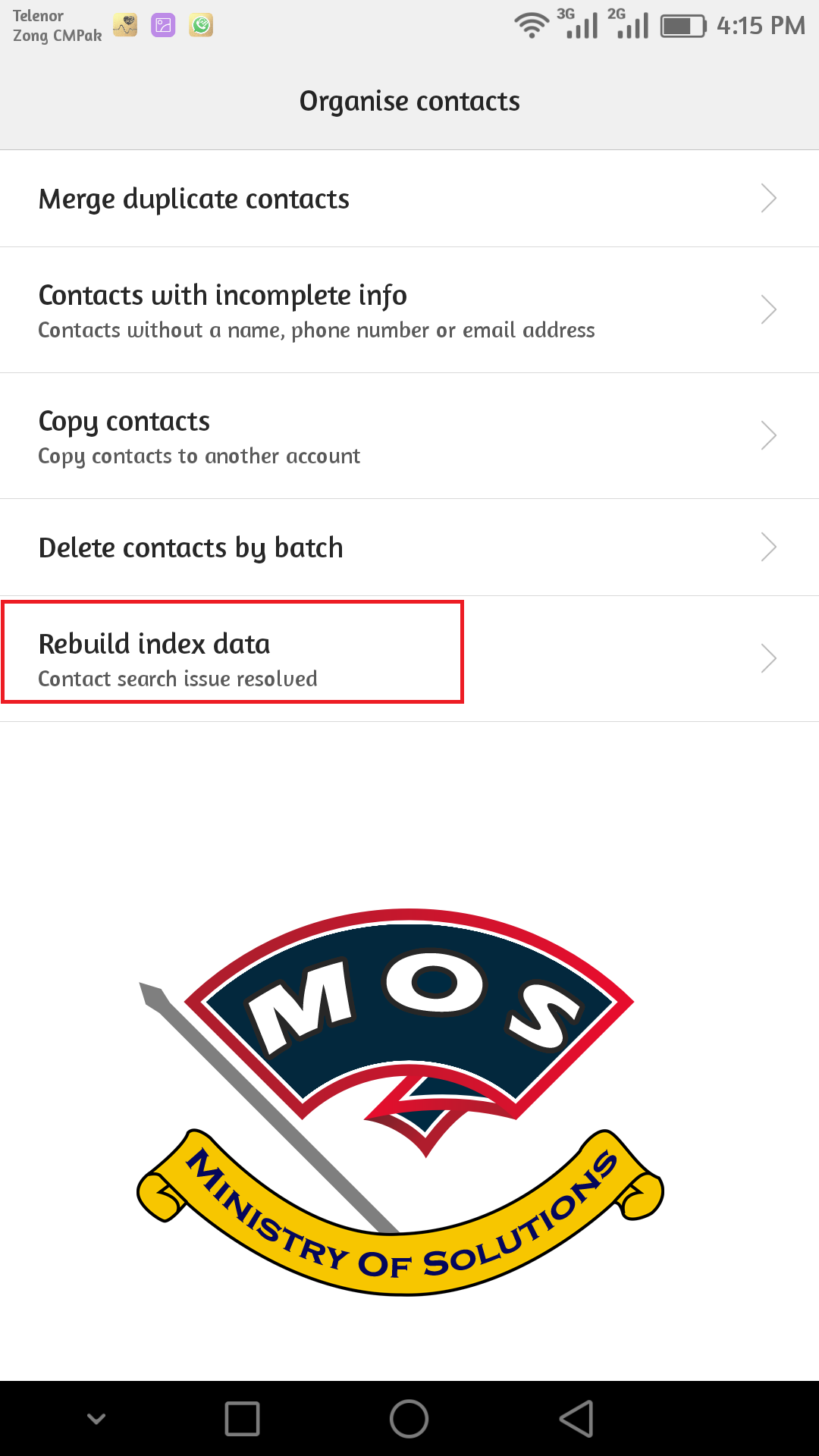 Contacts not showing on Huawei Phones [solved] - Ministry Of Solutions