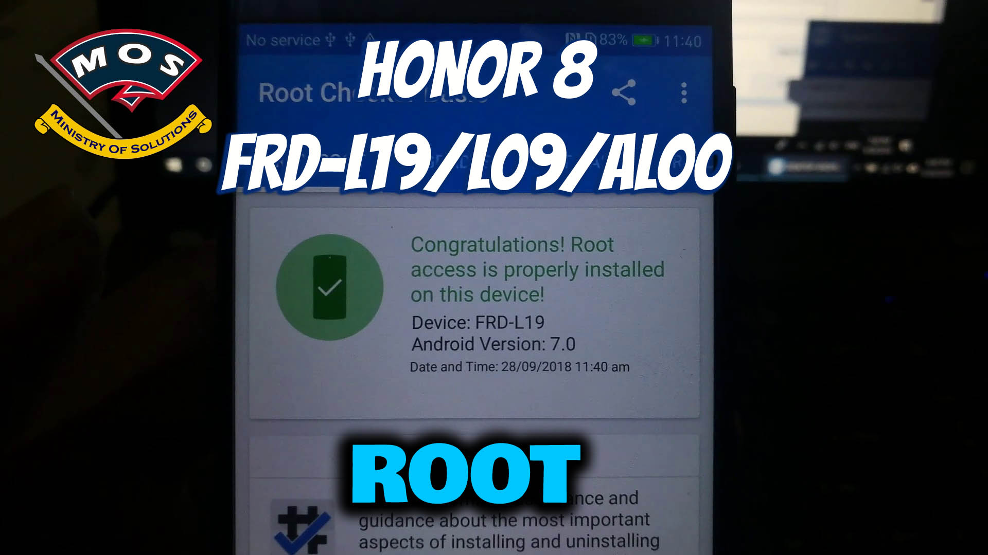 Honor 8 Frd L19 Oreo