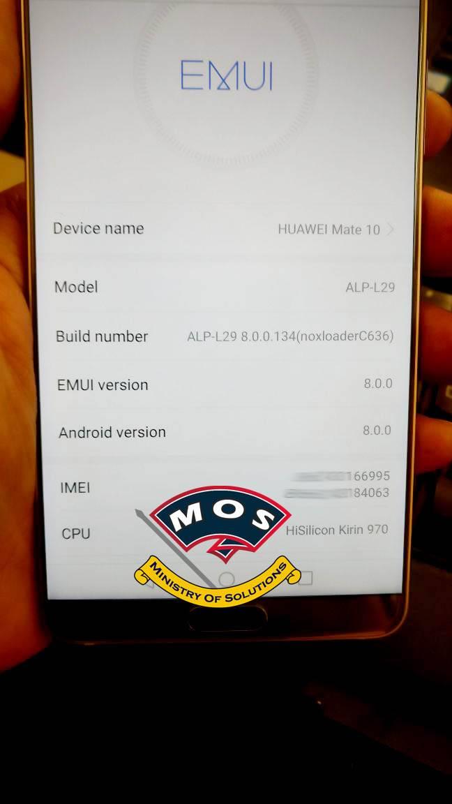 Huawei Mate 10 Rebranding (Chinese to International