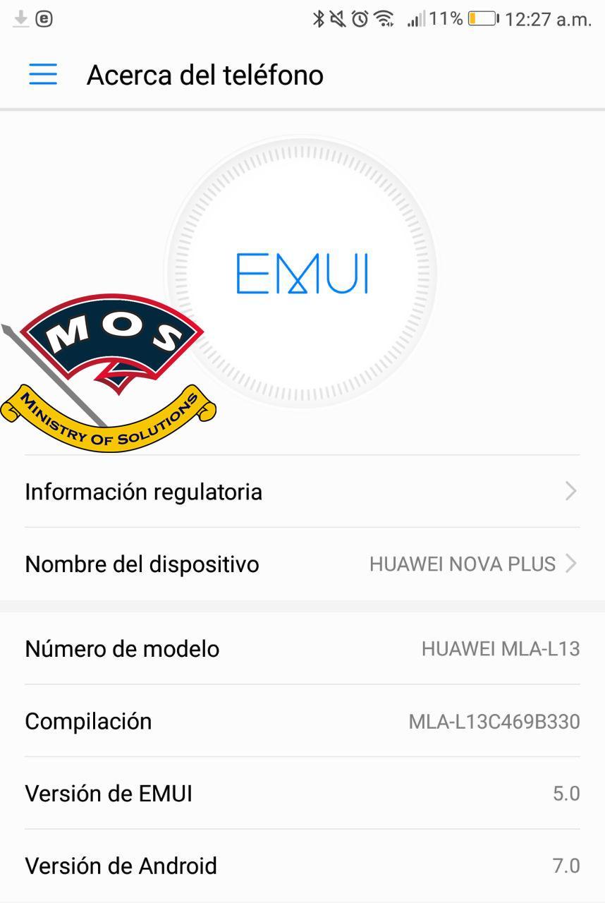Huawei Nova Plus MLA-L13 Nougat B330 EMUI 5 (Latin America
