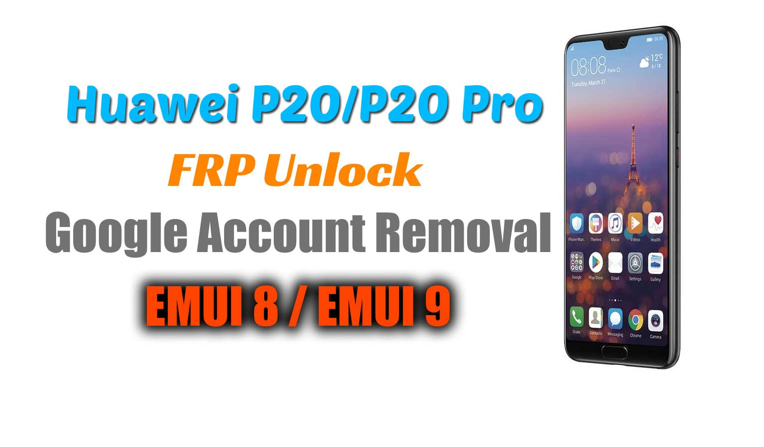 Huawei P20 / P20 Pro FRP Bypass (Google Account Removal