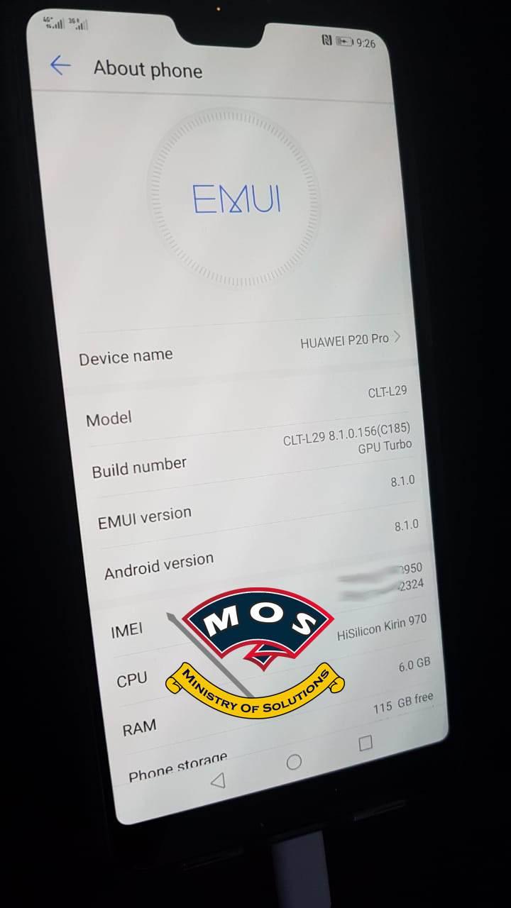 Huawei P20 Pro Demo Remove/Rebrand Service - Ministry Of