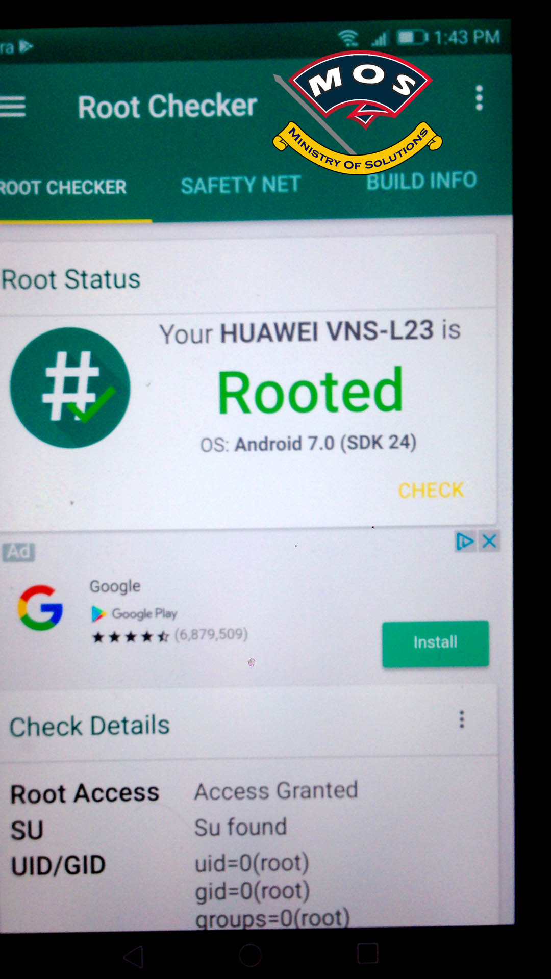 Huawei P9 Lite VNS-L23 Root (Nougat - EMUI 5) - Ministry Of