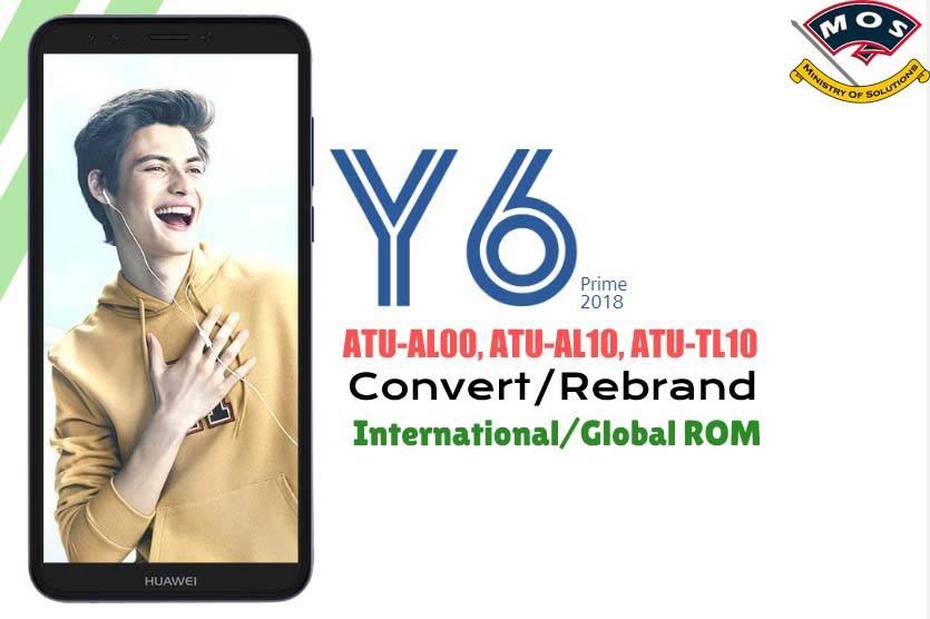 Huawei Y6 Prime/ Enjoy 8e ATU-AL00, ATU-AL10 Rebrand