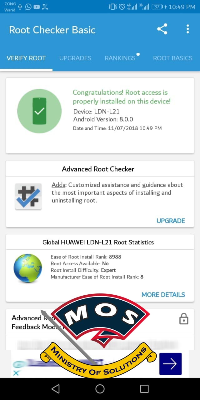 Huawei Y7 Prime 2018 LDN-L21 Rooting Tutorial - Ministry Of Solutions