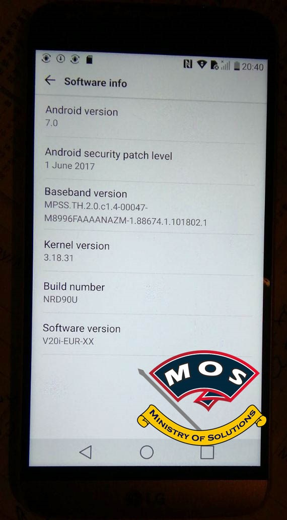 LG G5 H850 Nougat Root (With Photos) - Ministry Of Solutions