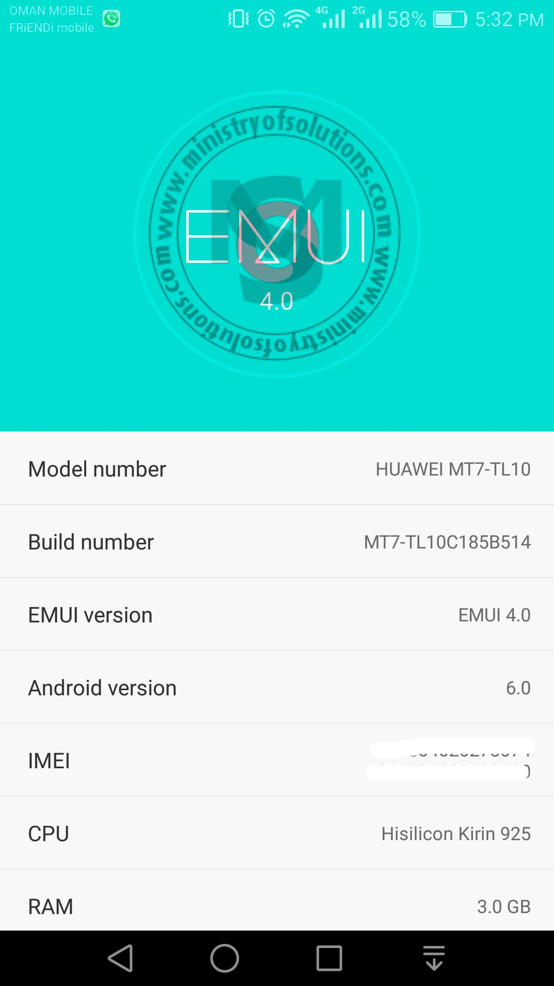 Download Huawei Mate7 TL10 Marshmallow B514 Firmware [Middle East