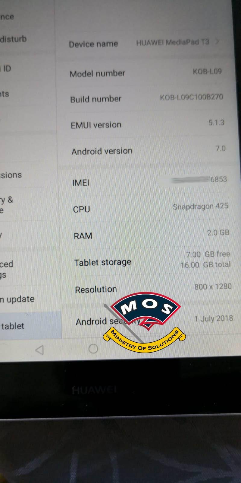 Huawei Mediapad T3 8 0 KOB-L09 KOB-W09 Rebrand (Remove Demo