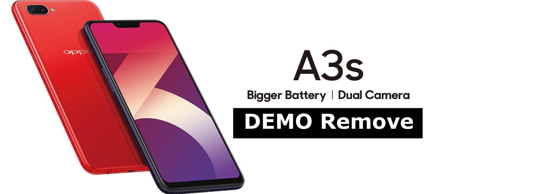 Oppo A3S Demo Remove (Screen Lock Remove) (Paid Service