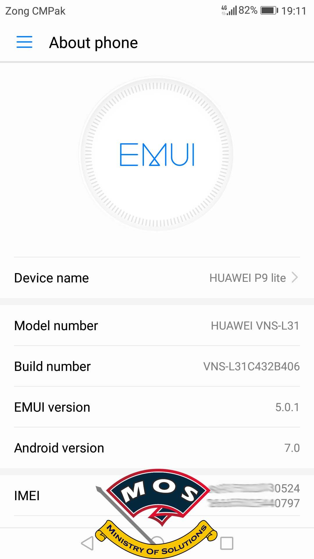 Huawei P9 Lite VNS-L31 Firmware B406 (Europe-Dual Sim