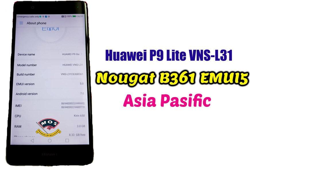 Huawei P9 Lite VNS-L31 Nougat B361 EMUI5 (Asia Pacific