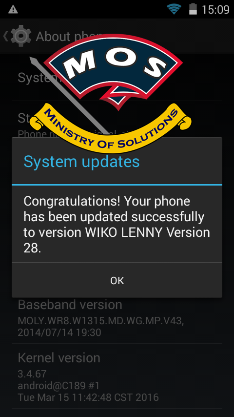 Wiko Lenny Update V28 Stock Firmware Official - Ministry Of
